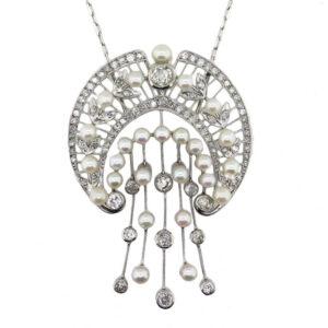 Diamond and Pearl Necklace AJ15376