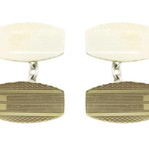 Silver Gilt Cufflinks AJ15743
