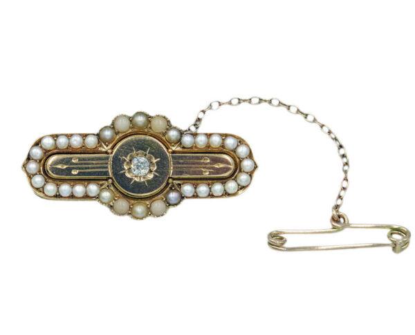 Diamond & Pearl Brooch AJ15831