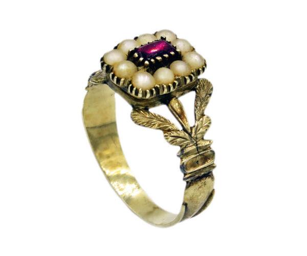 Garnet Locket Ring AJ15974