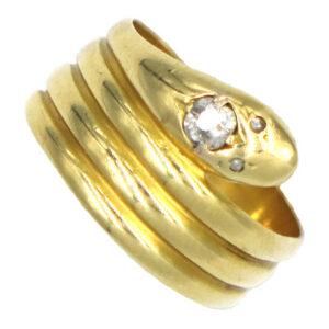 Snake Ring with Diamond AJ16017