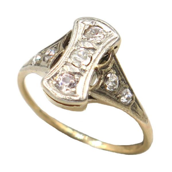 Art-Deco Square Design Diamond Ring AJ16045