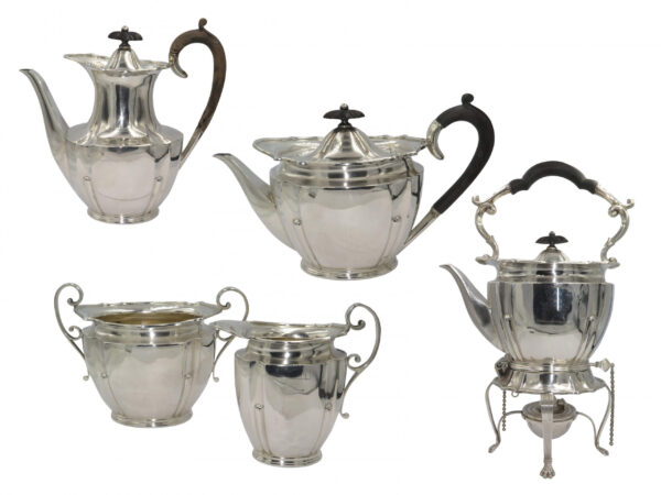 5-PIECE SILVER TEA AND COFFEE SET AS12320