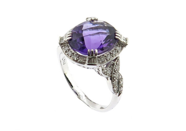 Amethyst & Diamond Ring MJ10203
