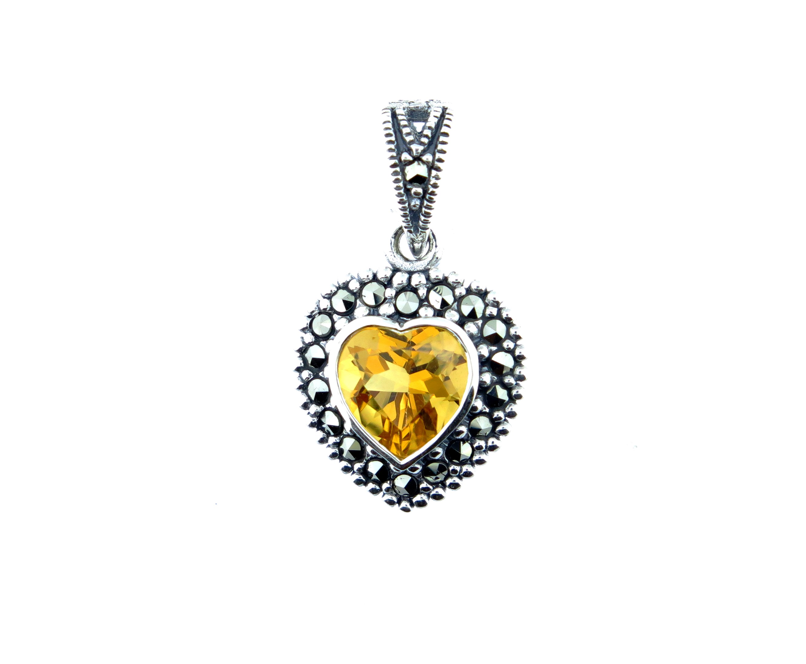 Citrine Heart Pendant MJ10374