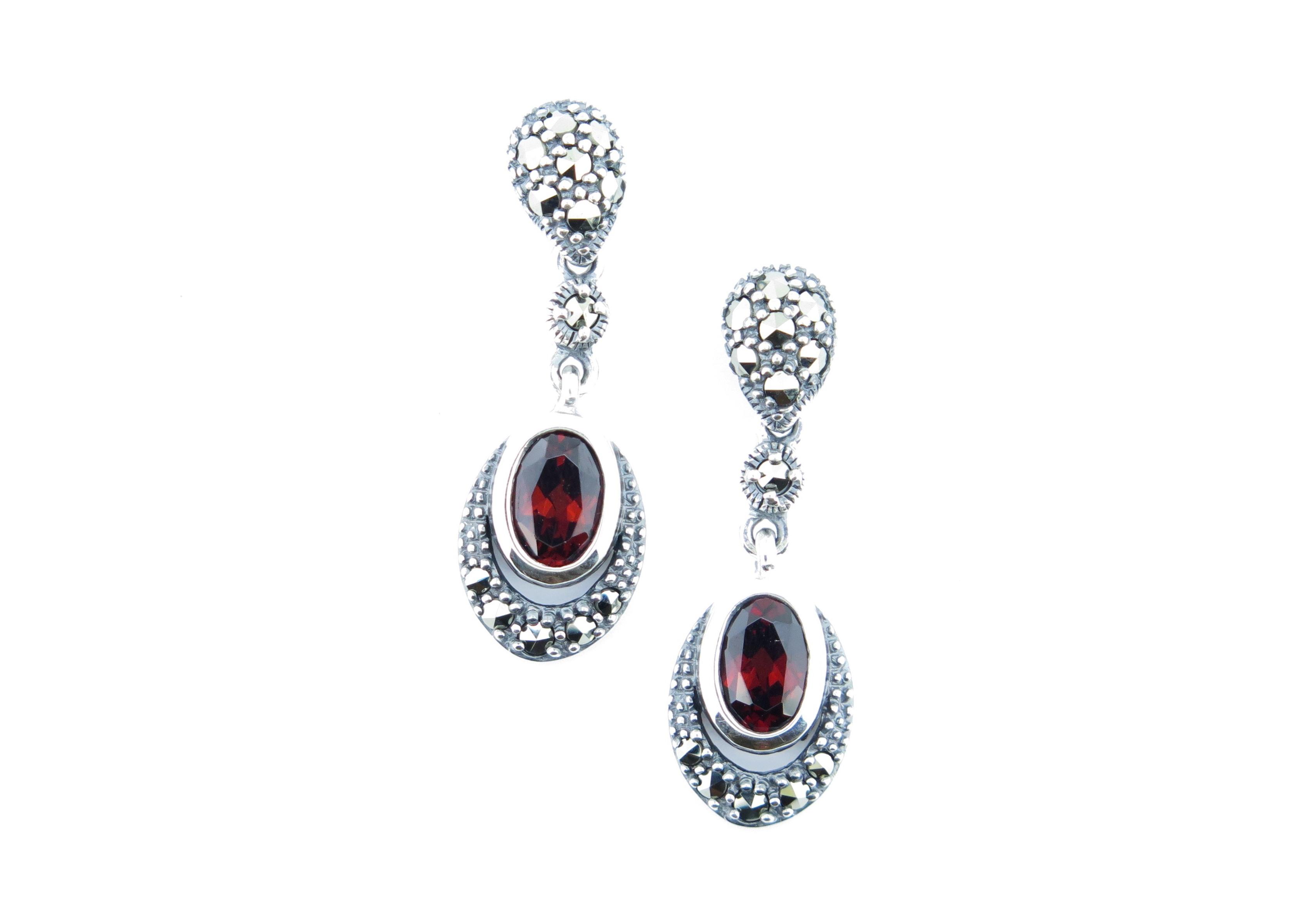 Garnet Drop Earrings MJ10570