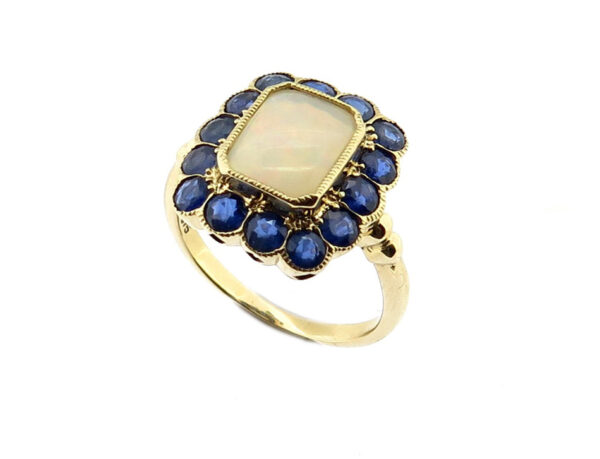 Opal & Sapphire Ring MJ10975