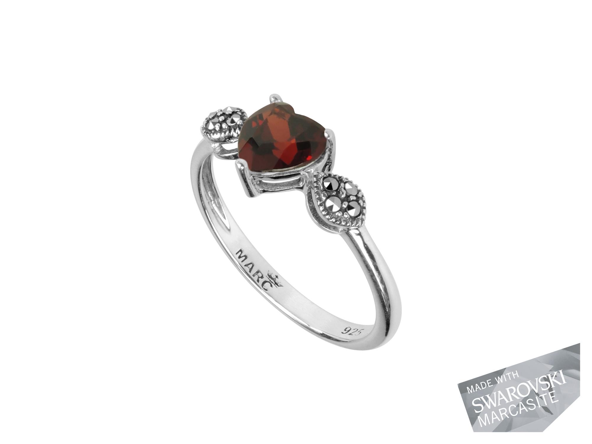 Garnet Heart Ring MJ11346