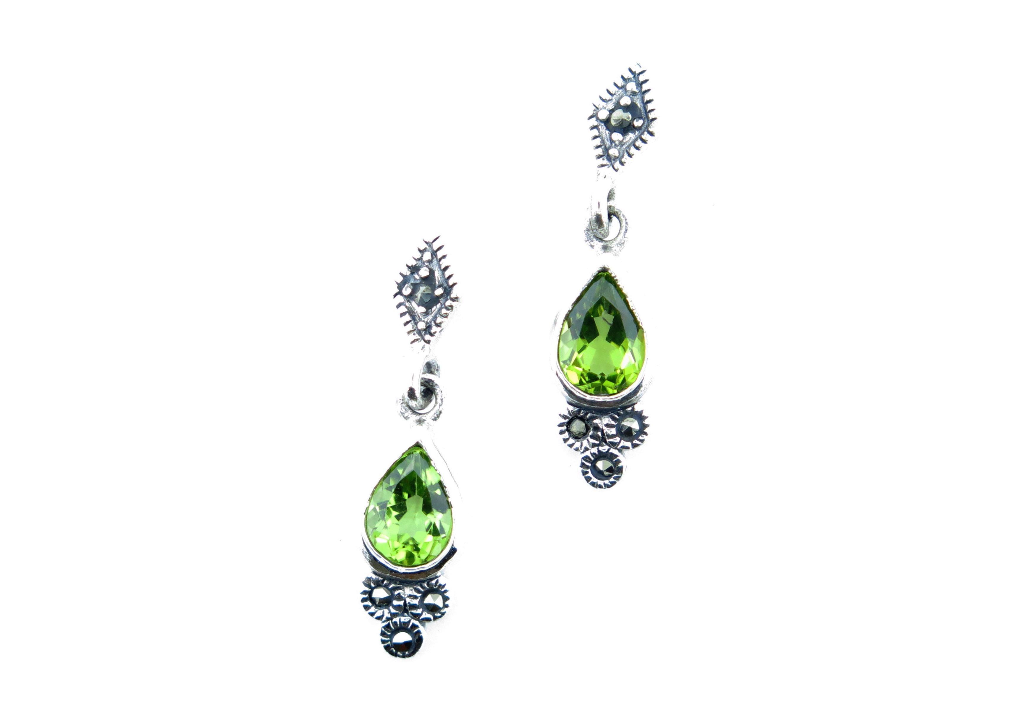 Peridot Drop Earrings MJ11363