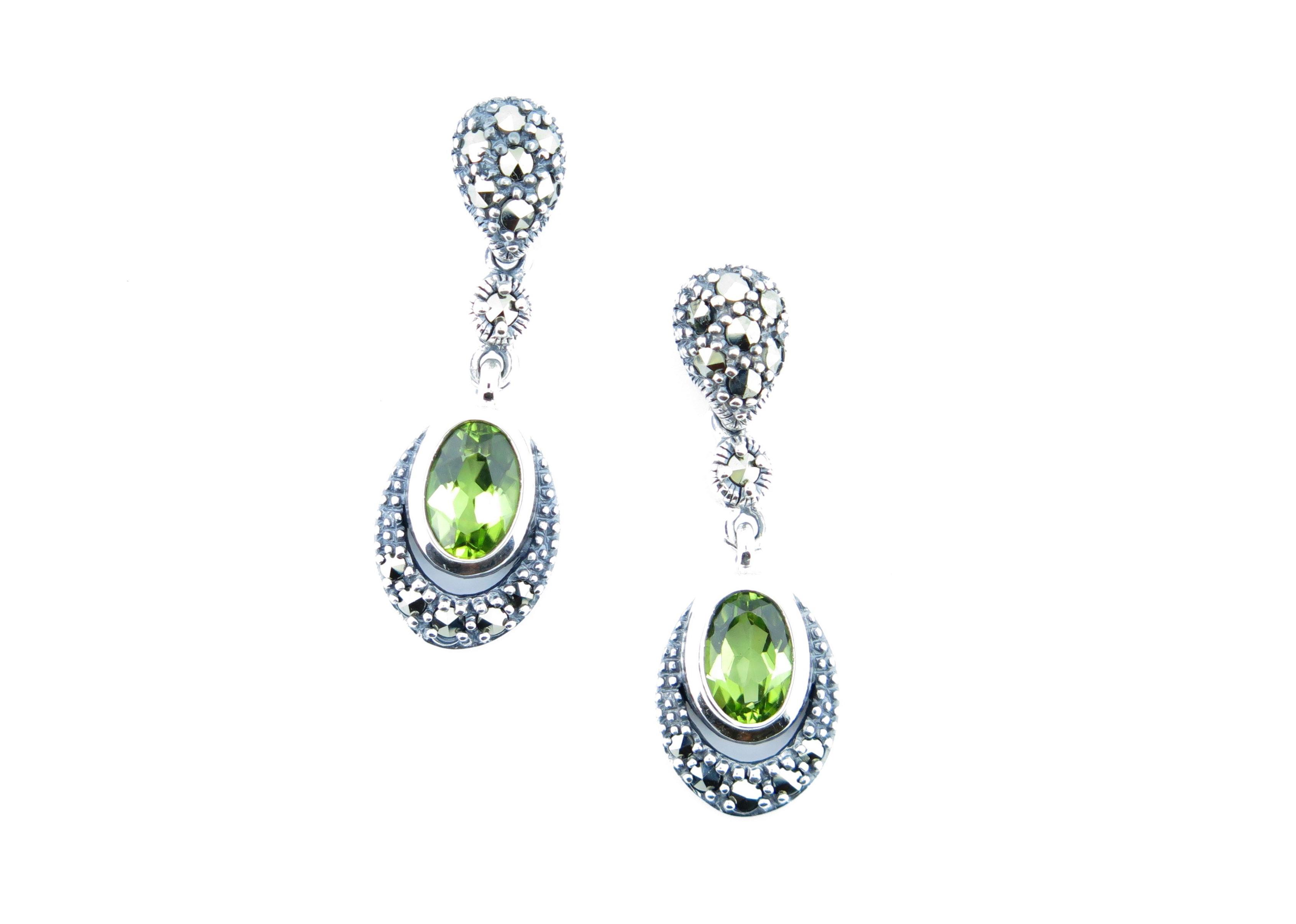 Peridot Drop Earrings MJ11421