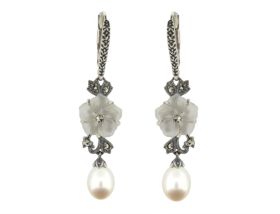 Crystal Quartz & Pearl Earring MJ12793