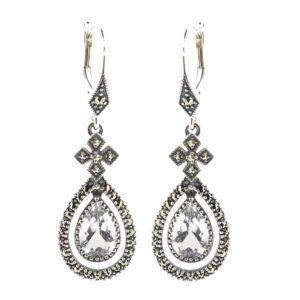Silver Topaz Earrings MJ13664