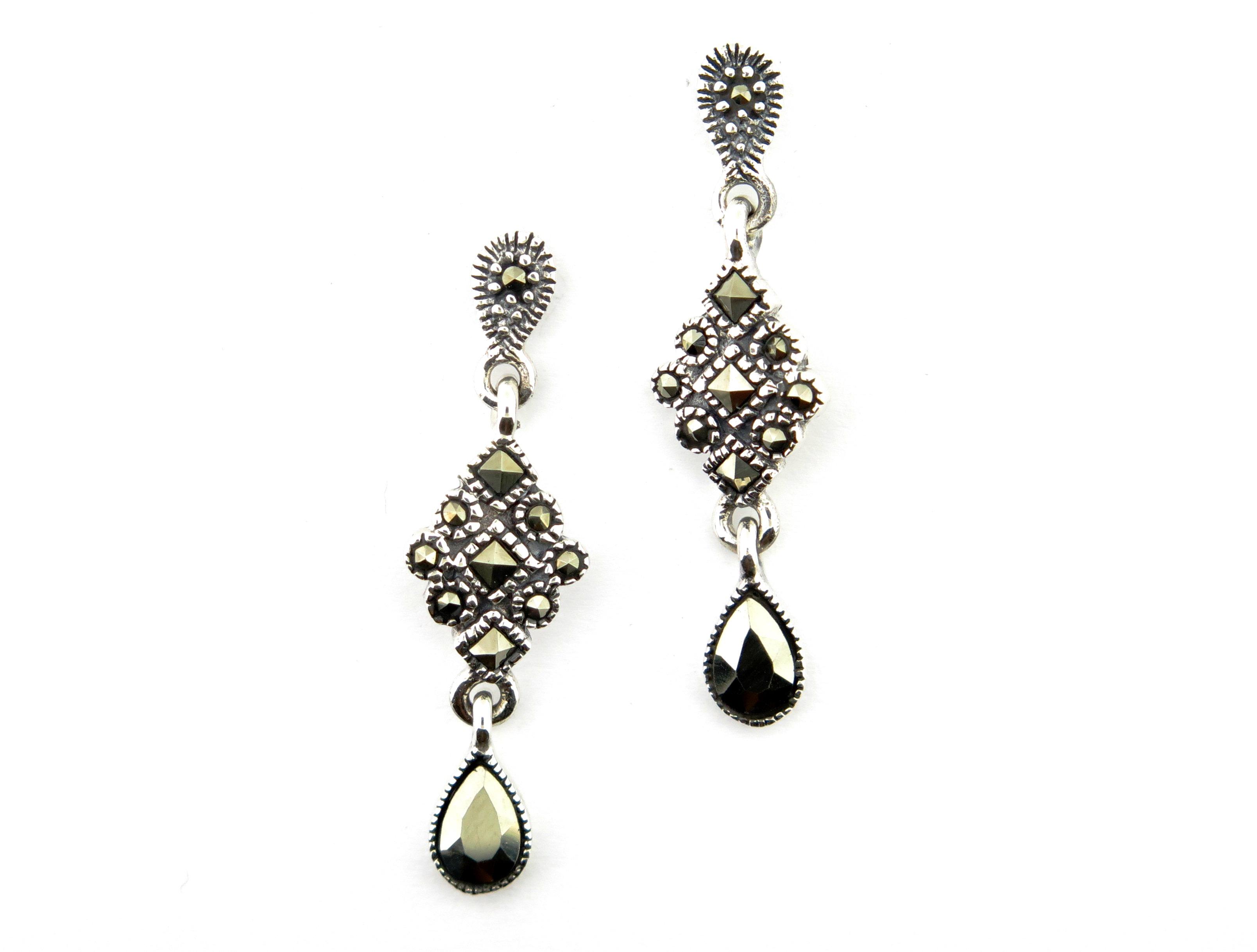 Marcasite Drop Earrings MJ14118