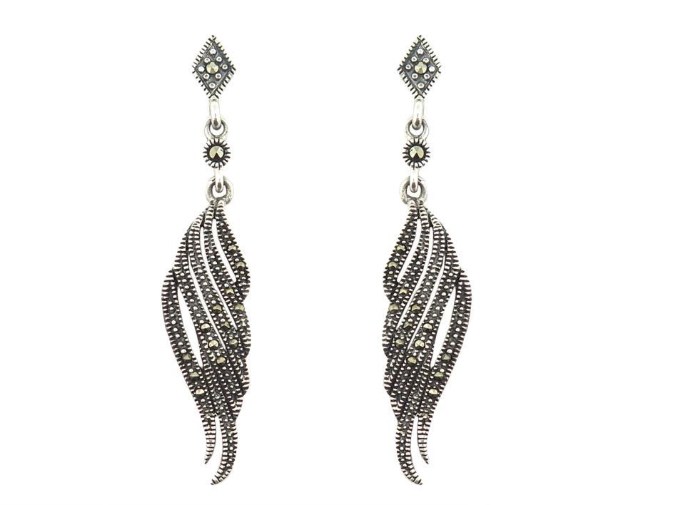 Marcasite Long Earrings MJ14126