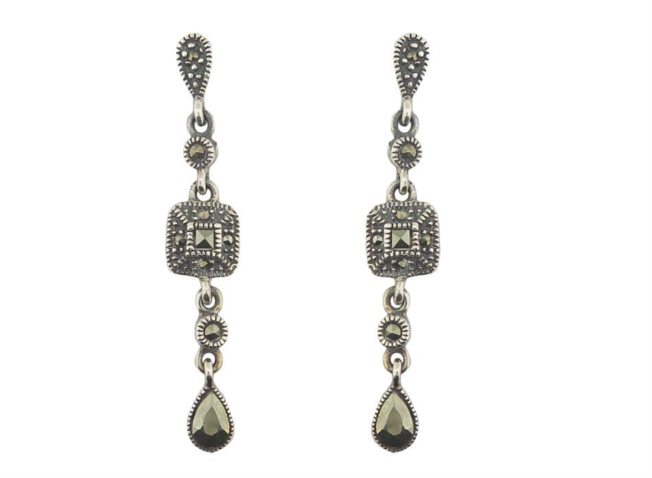Marcasite Drop Earrings MJ14128