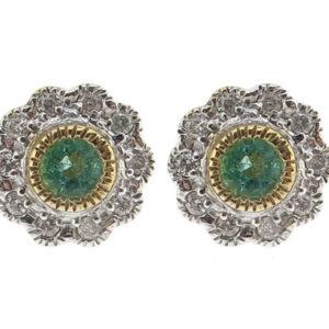 Emerald & Diamond Stud Earrings MJ14621 (Copy)