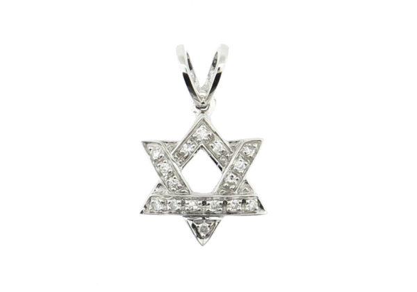 Diamond Star of David Pendant MJ14649