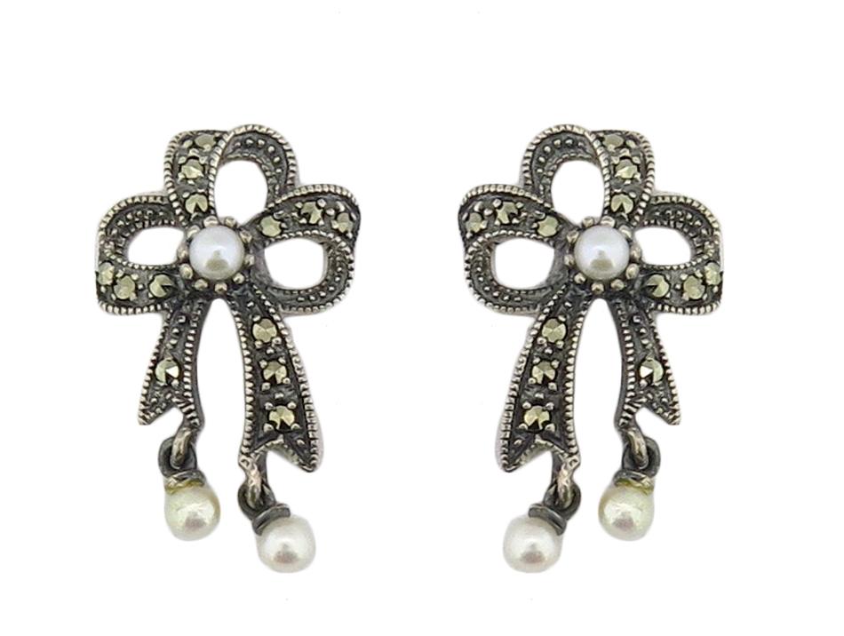 Seed Pearl Bow Earring MJ15193