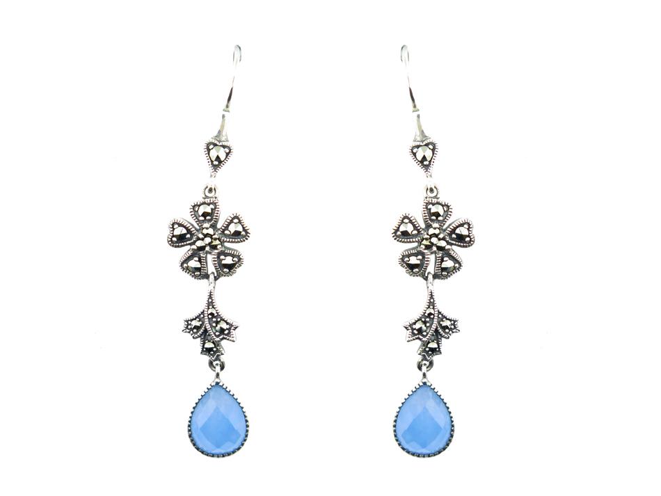 Blue Jade Earrings MJ15205