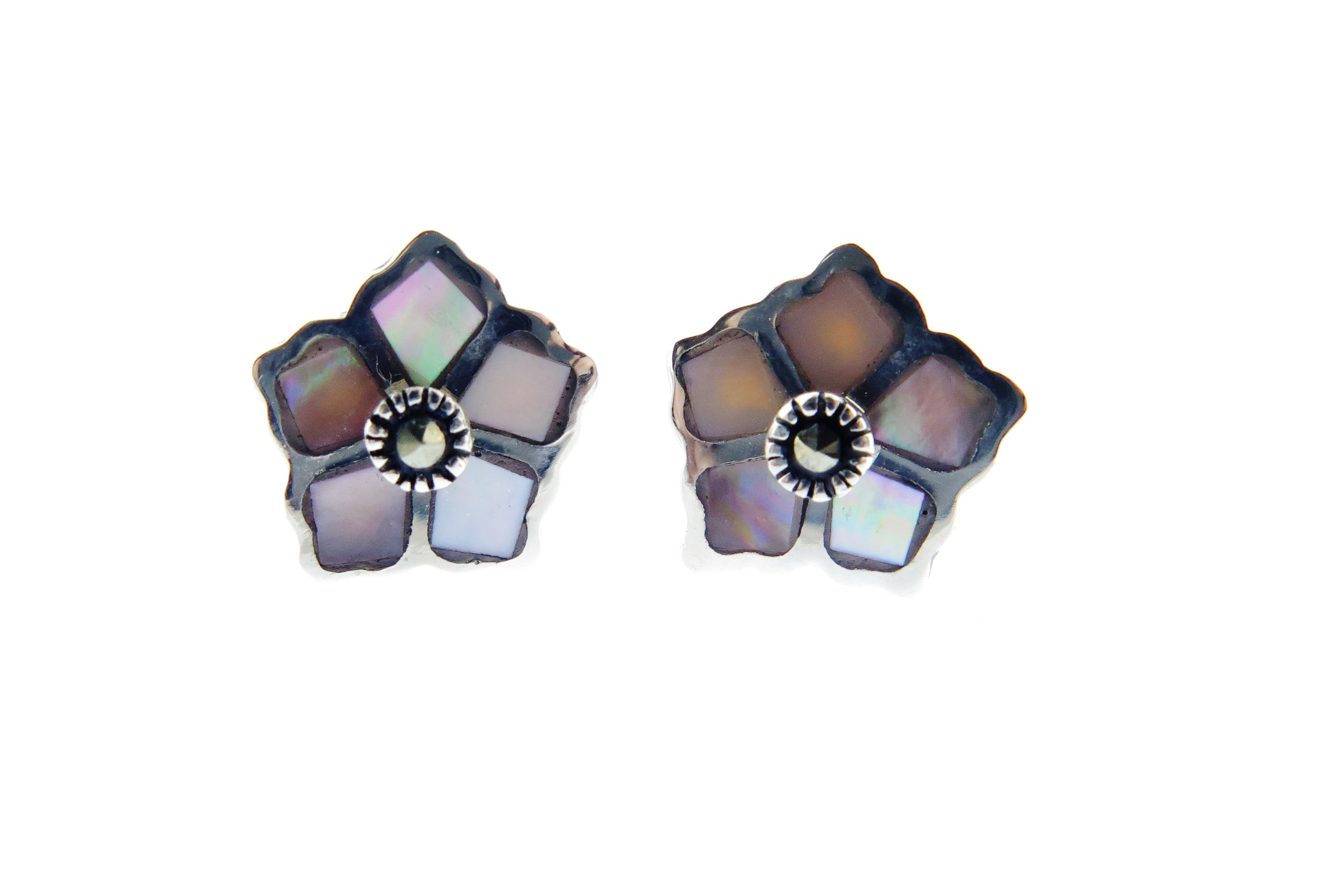 Pink Mother of Pearl Studs MJ15589
