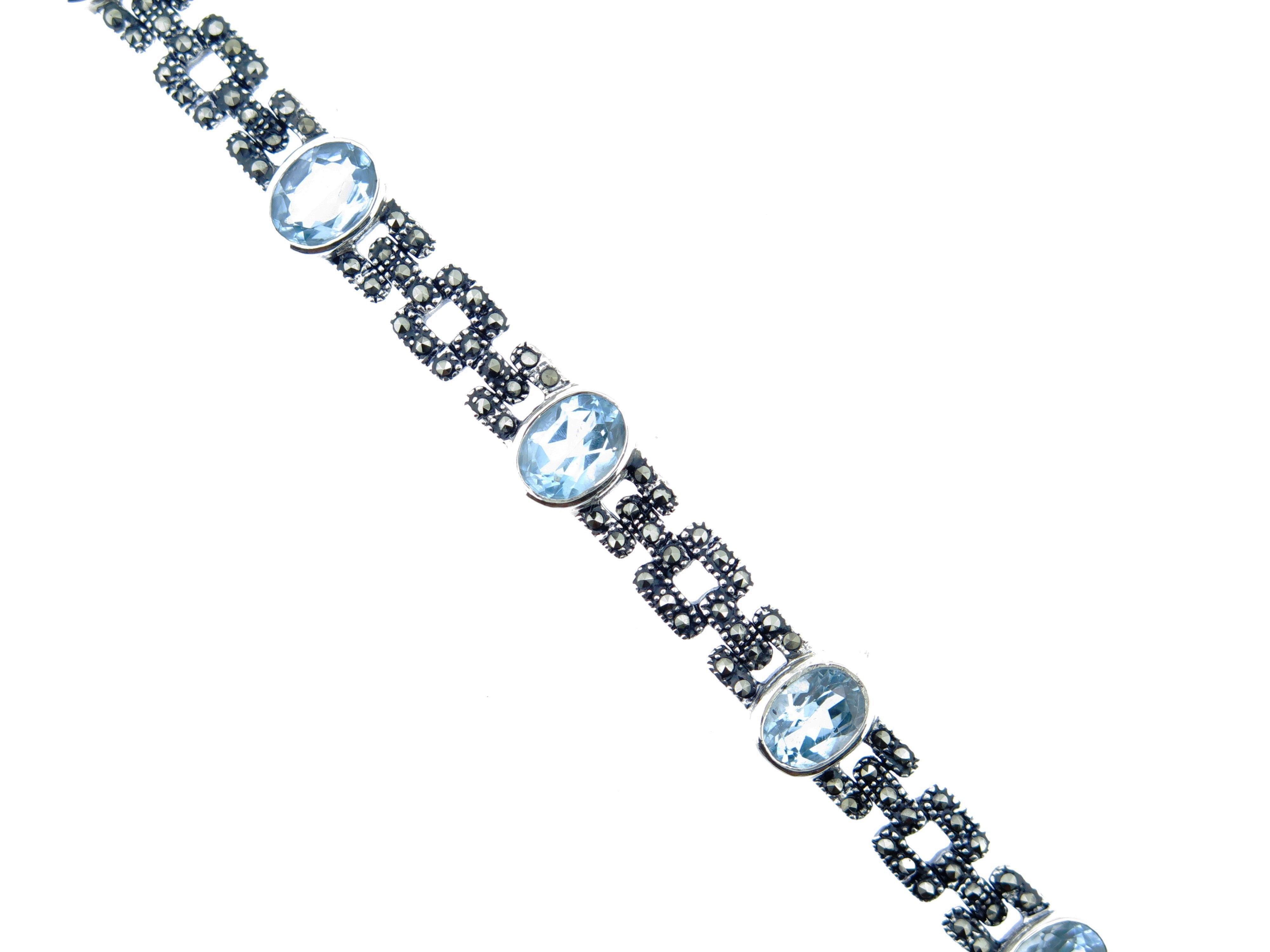 Blue Topaz Bracelet MJ15771