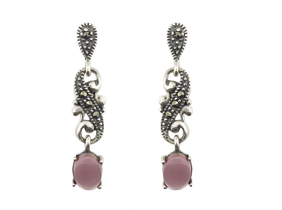 Pink Mother of Pearl Earrings MJ15824