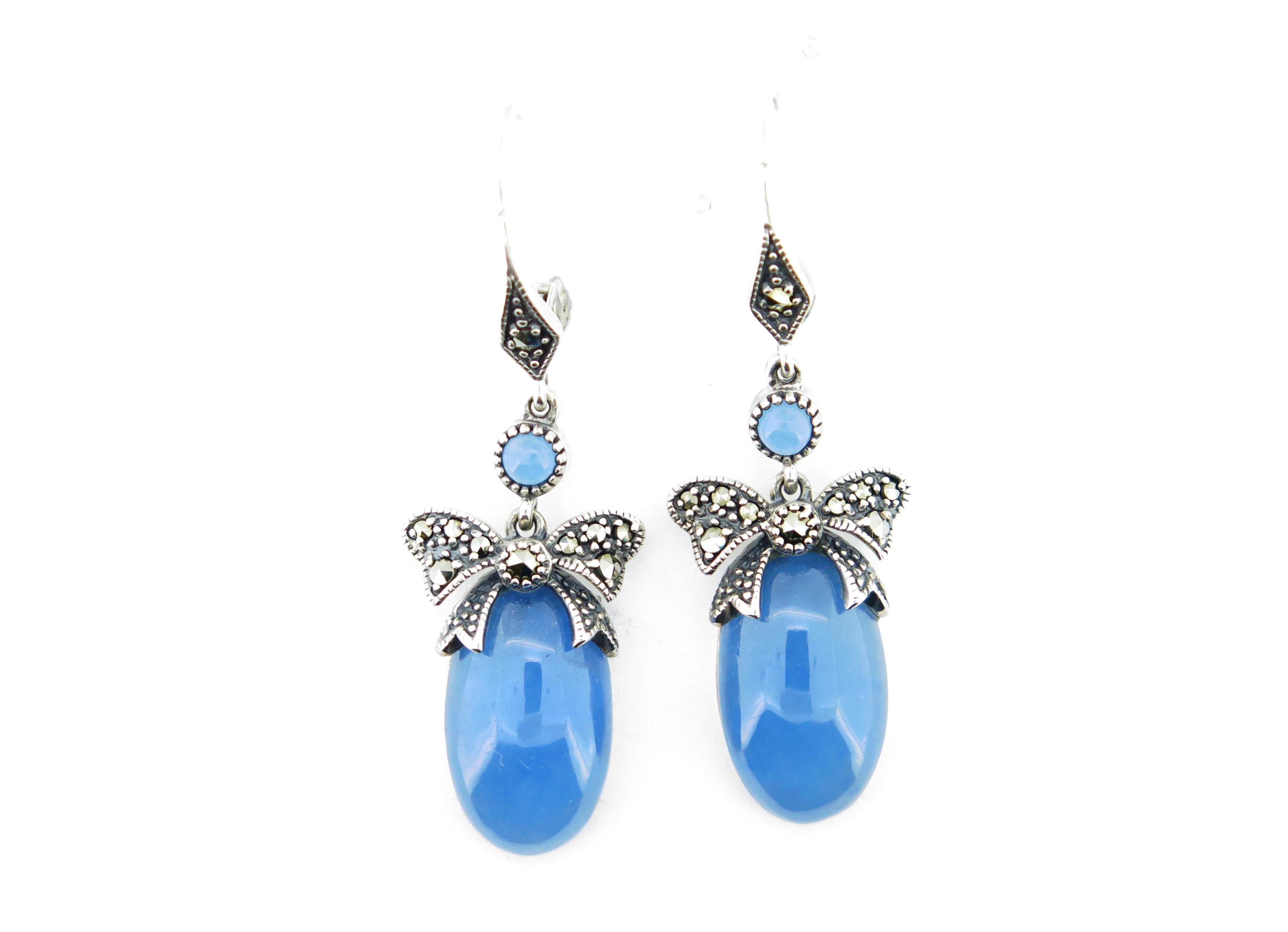 Blue Jade Earrings MJ15869