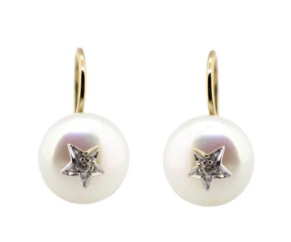 Pearl & Diamond Earrings MJ16526