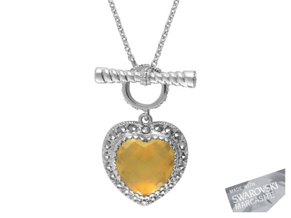 Yellow Opal Heart Necklace MJ16801