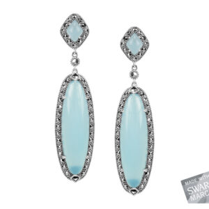 Blue Chalcedony Earrings MJ17820