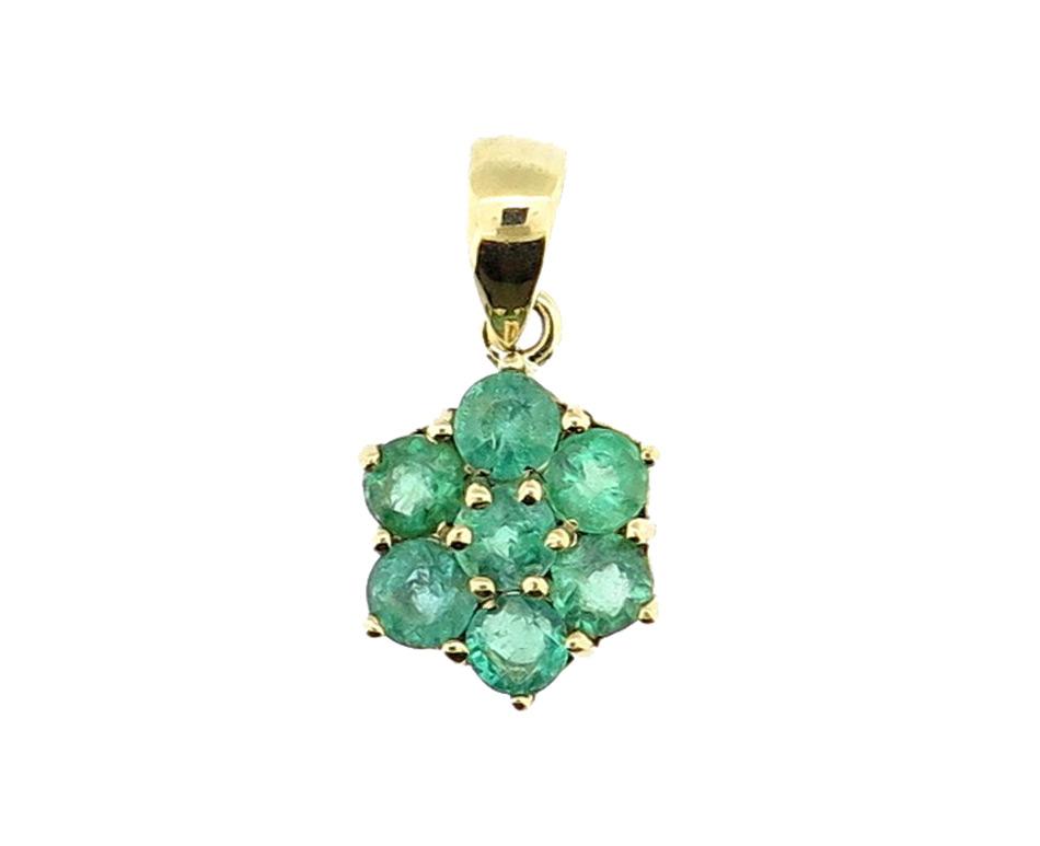 Emerald Cluster Pendant MJ17866