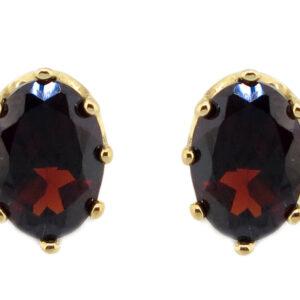 Garnet Stud Earrings MJ17869