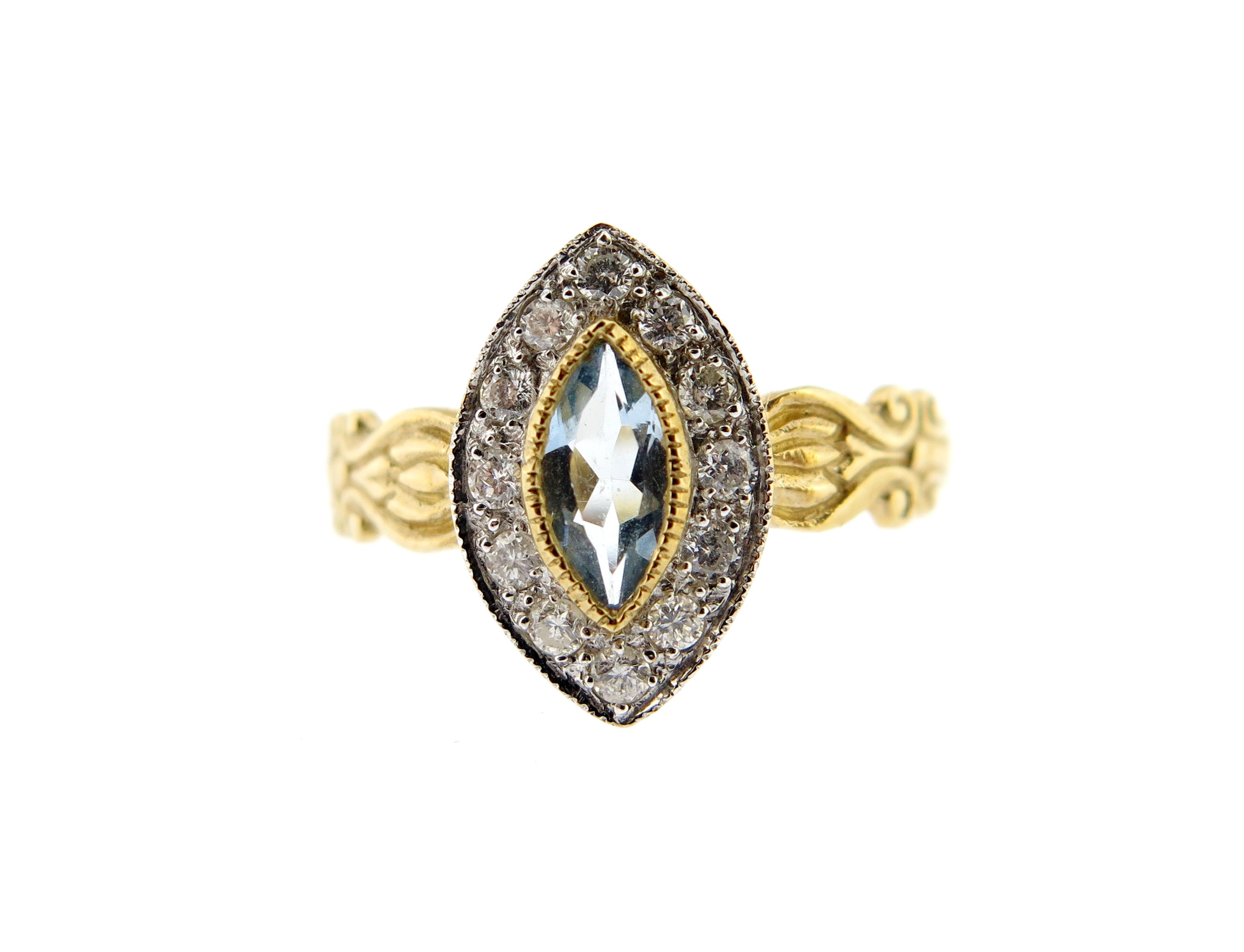 Aquamarine & Diamond Ring MJ17970