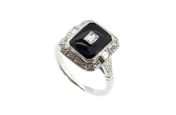 Onyx & Diamond Dress Ring MJ17977