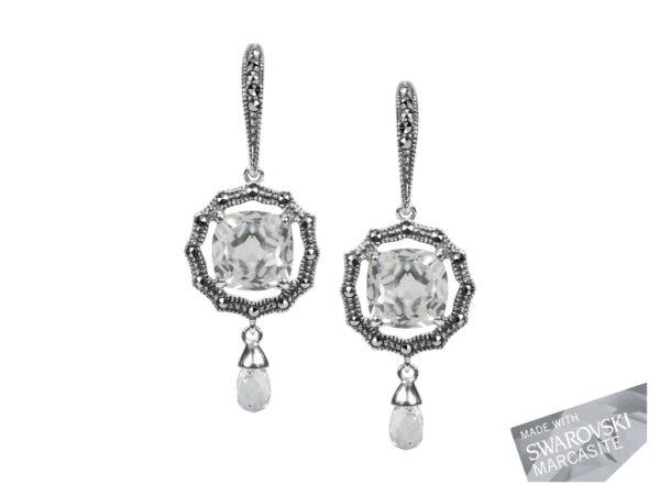 Clear Quartz Earrings MJ18076