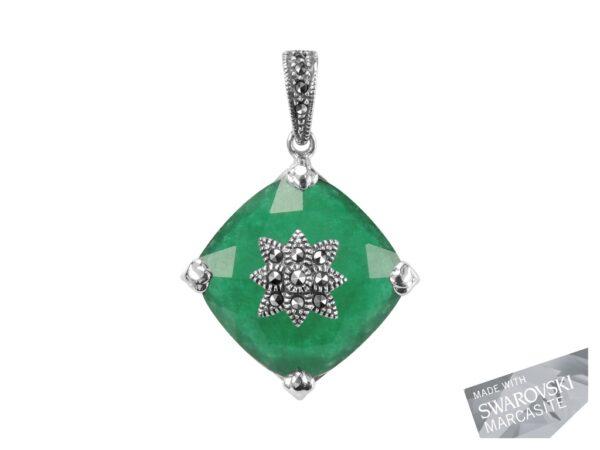 Green Chalcedony Pendant MJ18134