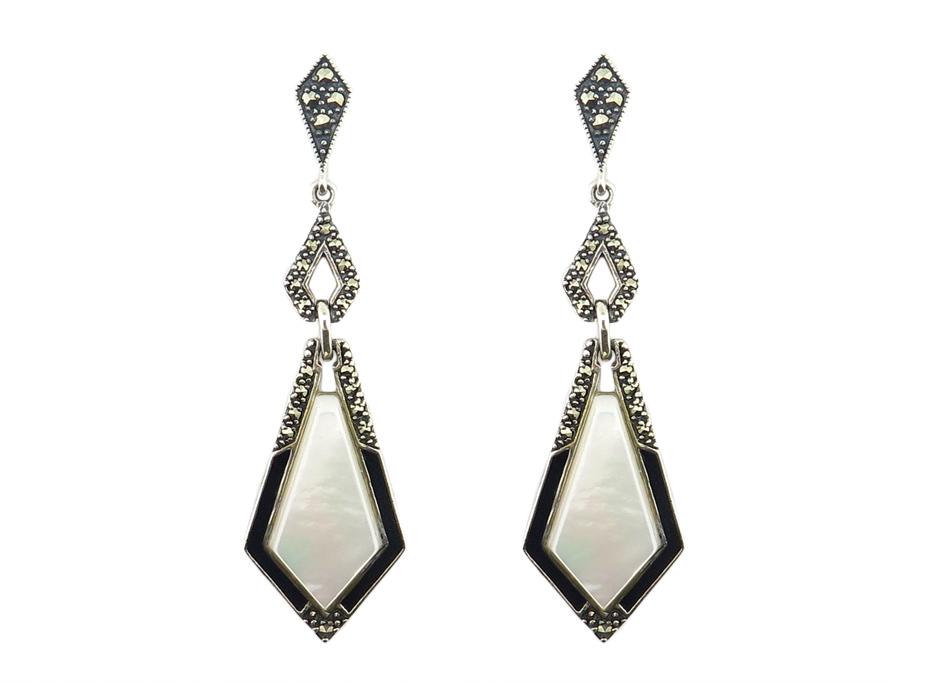 Mother-of-Pearl & Enamel Earrings MJ18710