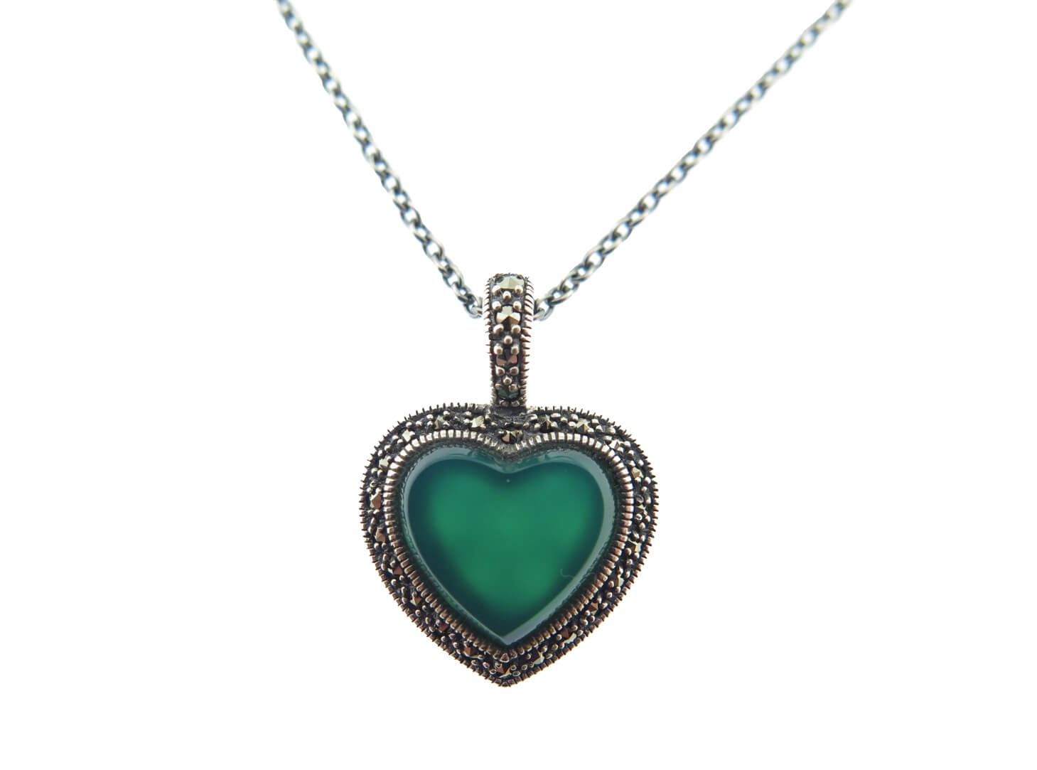Dyed Green Chalcedony Necklace MJ18775