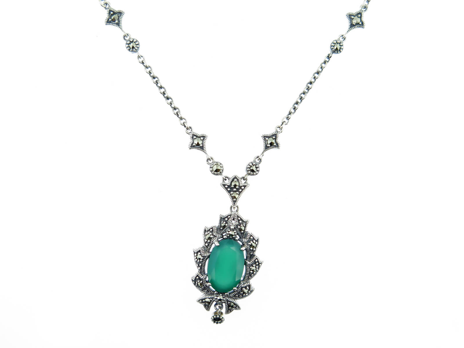 Dyed Green Chalcedony Necklace MJ18776