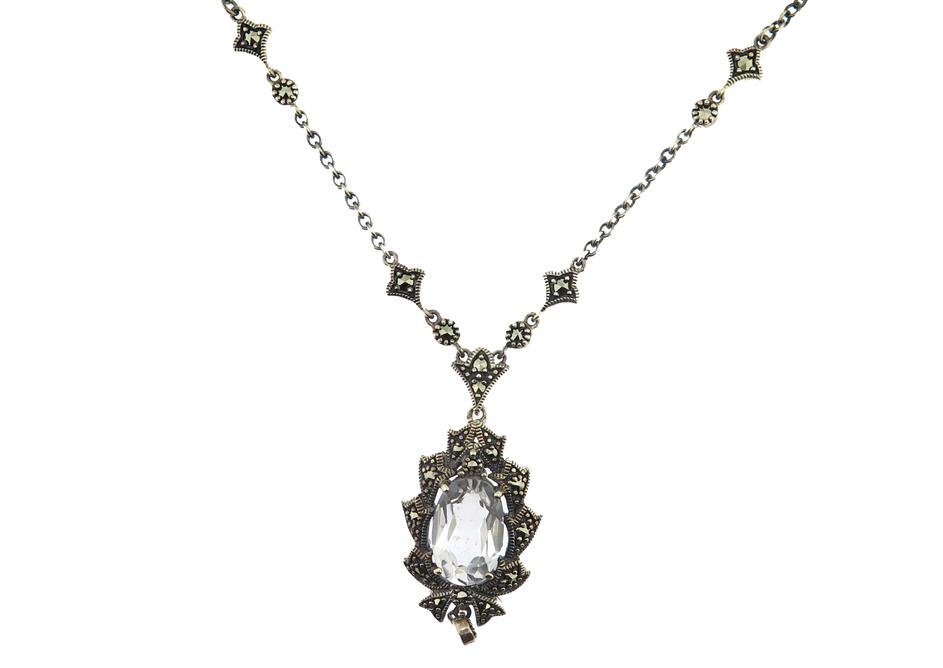 Silver Topaz Necklace MJ18778