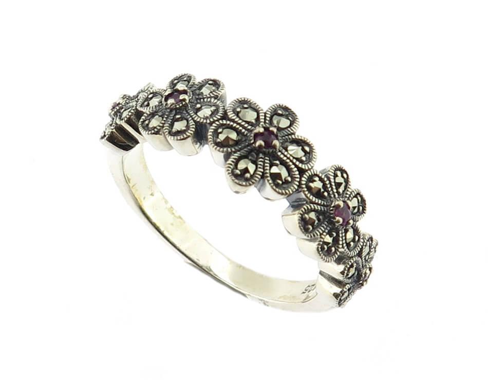 Ruby Flower Ring MJ18828