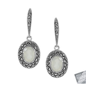 White Chalcedony Hook Earrings MJ18879