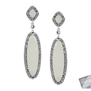 White Chalcedony Earrings MJ18881