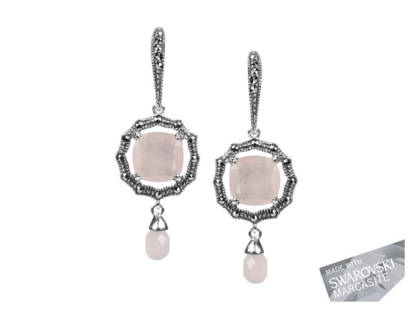 Rose Quartz Earrings MJ18886