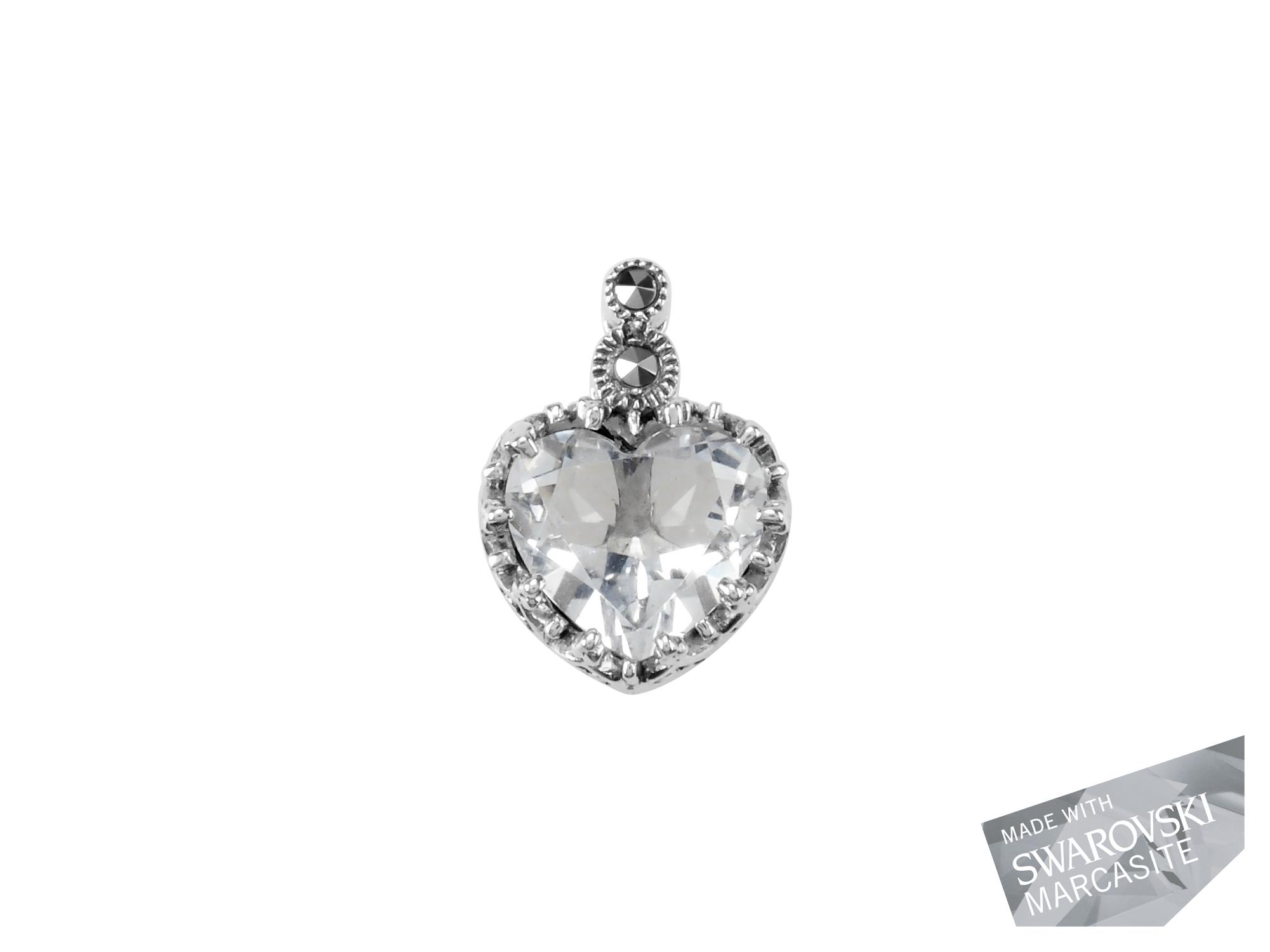 Clear Quartz Small Heart Pendant MJ18898