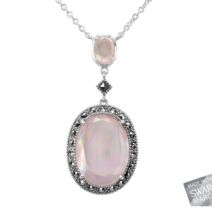 Pink Mother-of-Pearl Doublet Necklace MJ18902