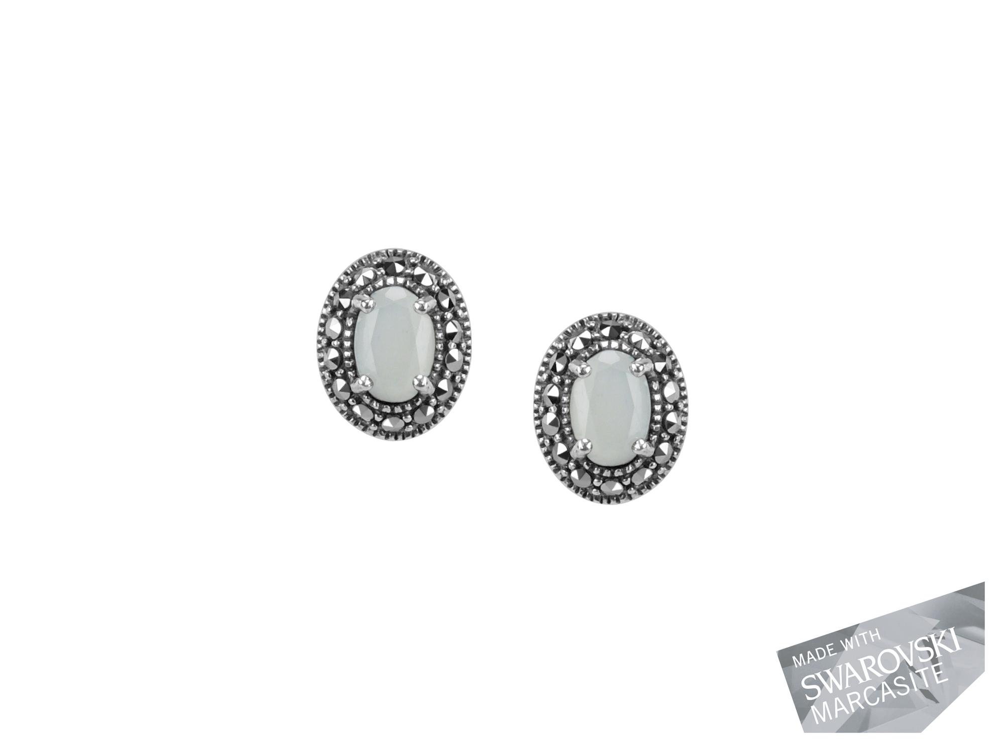 Moonstone Stud Earrings MJ18961