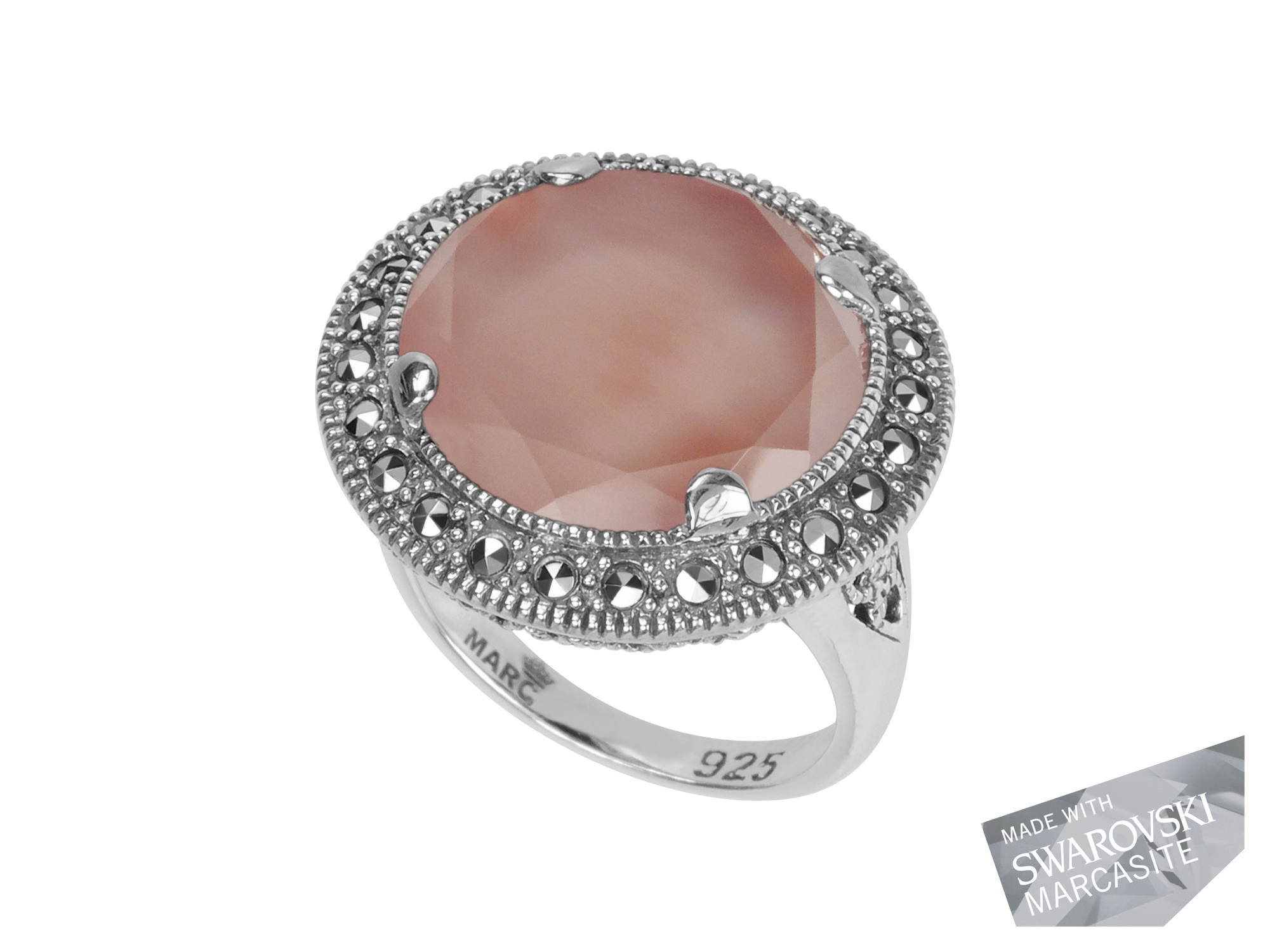 Pink Mother-Of-Pearl Doublet Ring MJ19012