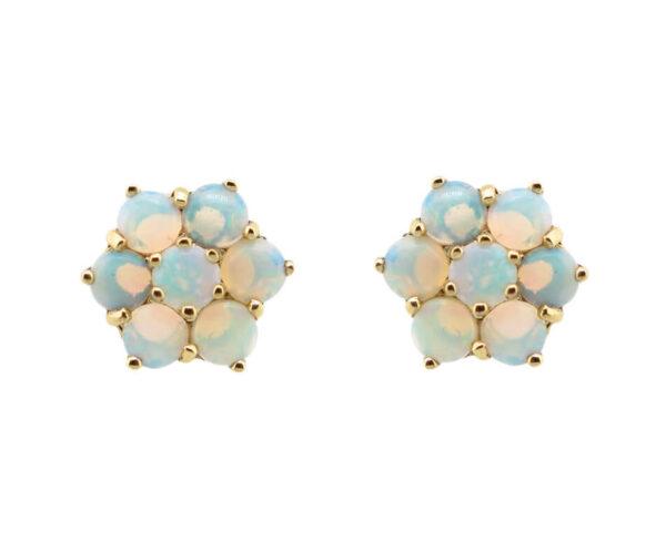 Opal Cluster Stud Earrings MJ19021
