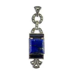 Lapis Lazuli & Onyx Pendant MJ19344